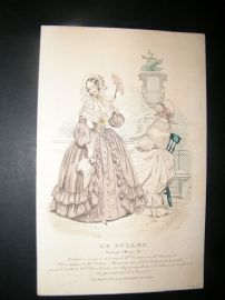 Le Follet C1840's Hand Coloured Fashion Print 861